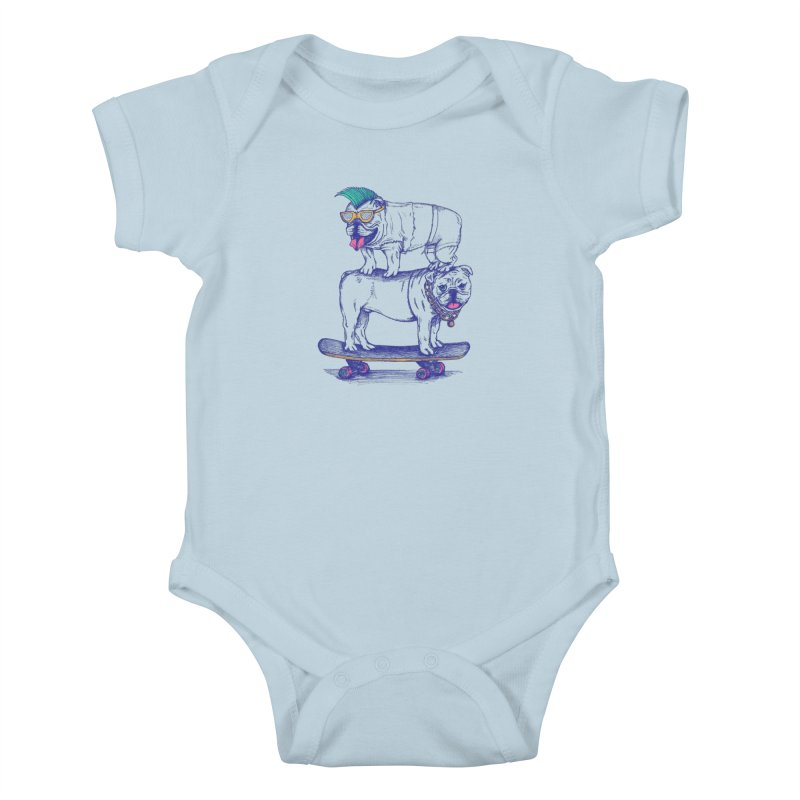 Double Dog Dare Kids Baby Bodysuit by SteveOramA