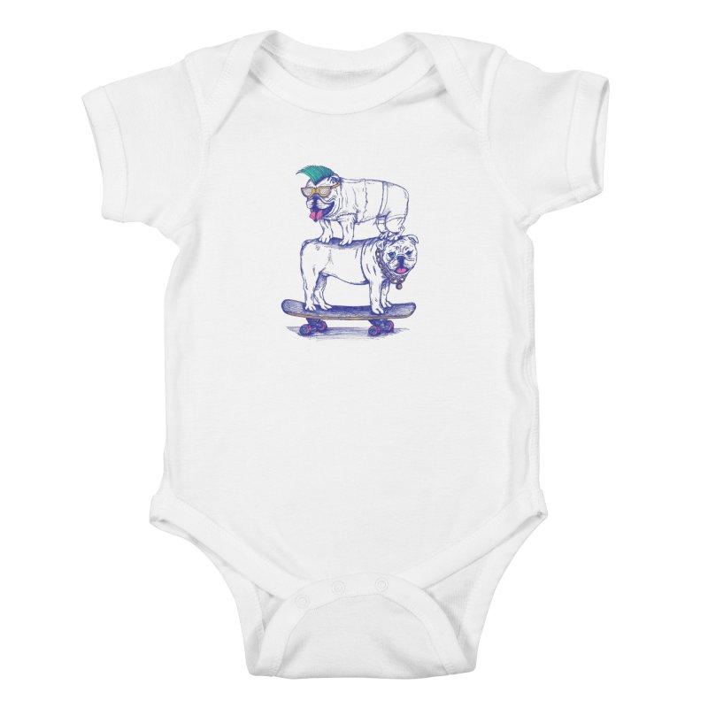 Double Dog Dare Kids Baby Bodysuit by SteveOramA