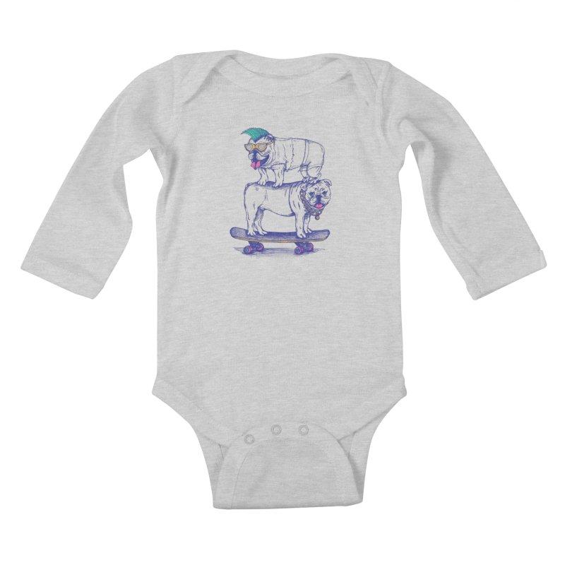 Double Dog Dare Kids Baby Longsleeve Bodysuit by SteveOramA