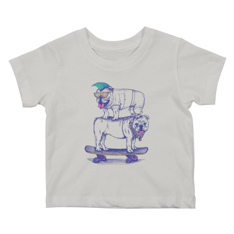 Double Dog Dare Kids Baby T-Shirt by SteveOramA