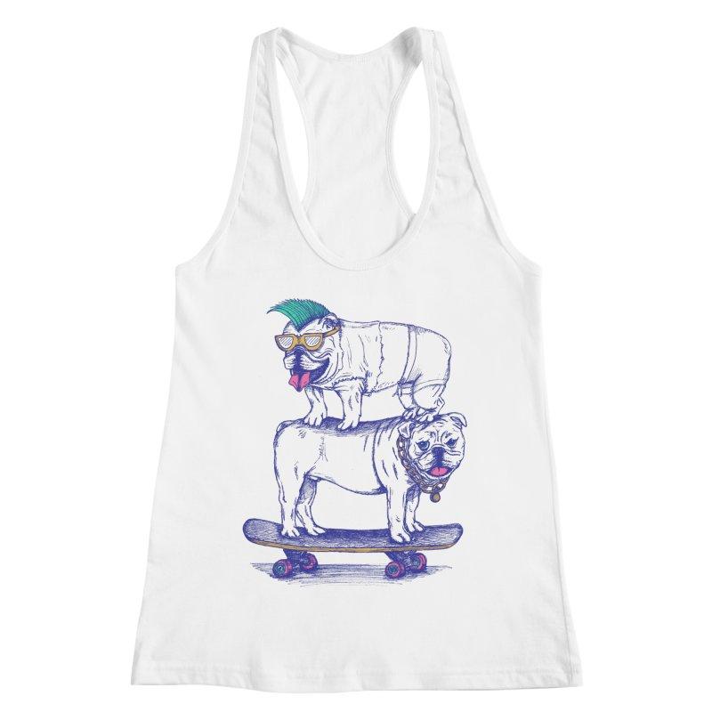 Double Dog Dare Women's Racerback Tank by SteveOramA
