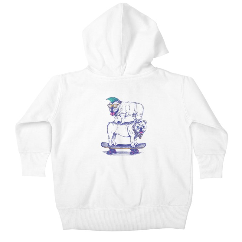 Double Dog Dare Kids Baby Zip-Up Hoody by SteveOramA