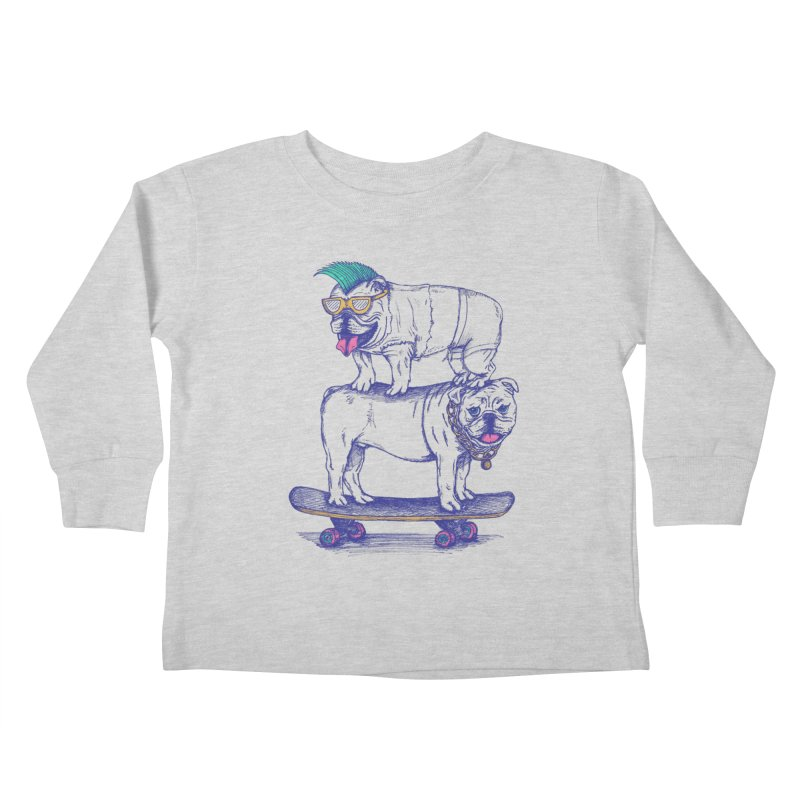 Double Dog Dare Kids Toddler Longsleeve T-Shirt by SteveOramA