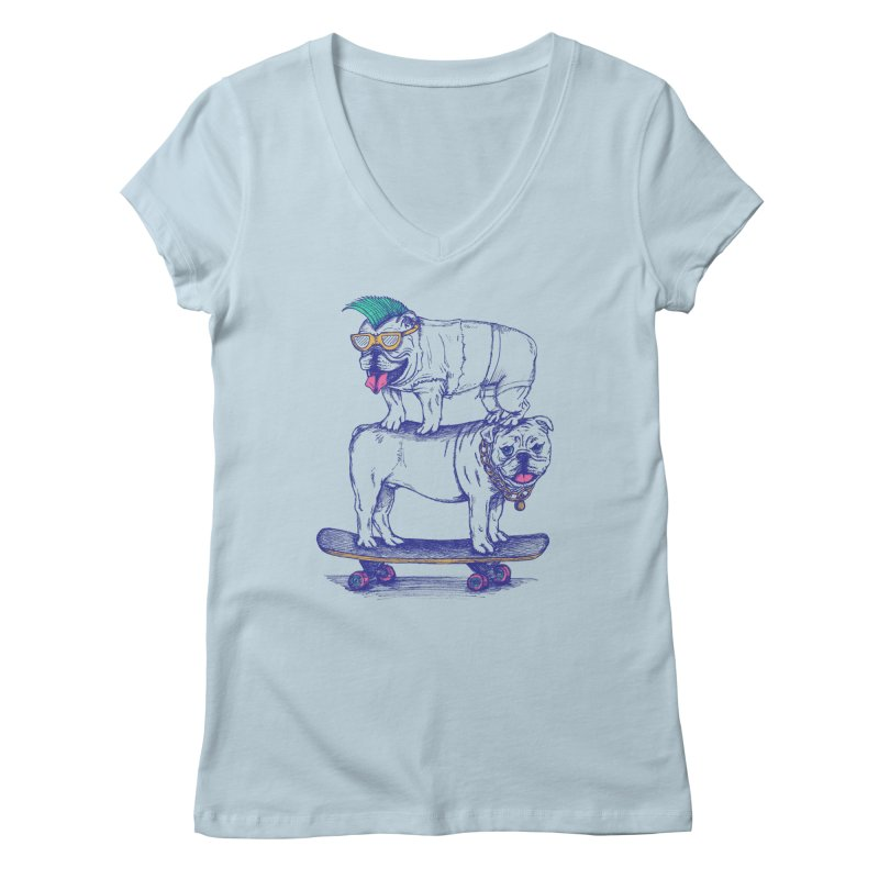 Double Dog Dare Women's V-Neck by SteveOramA