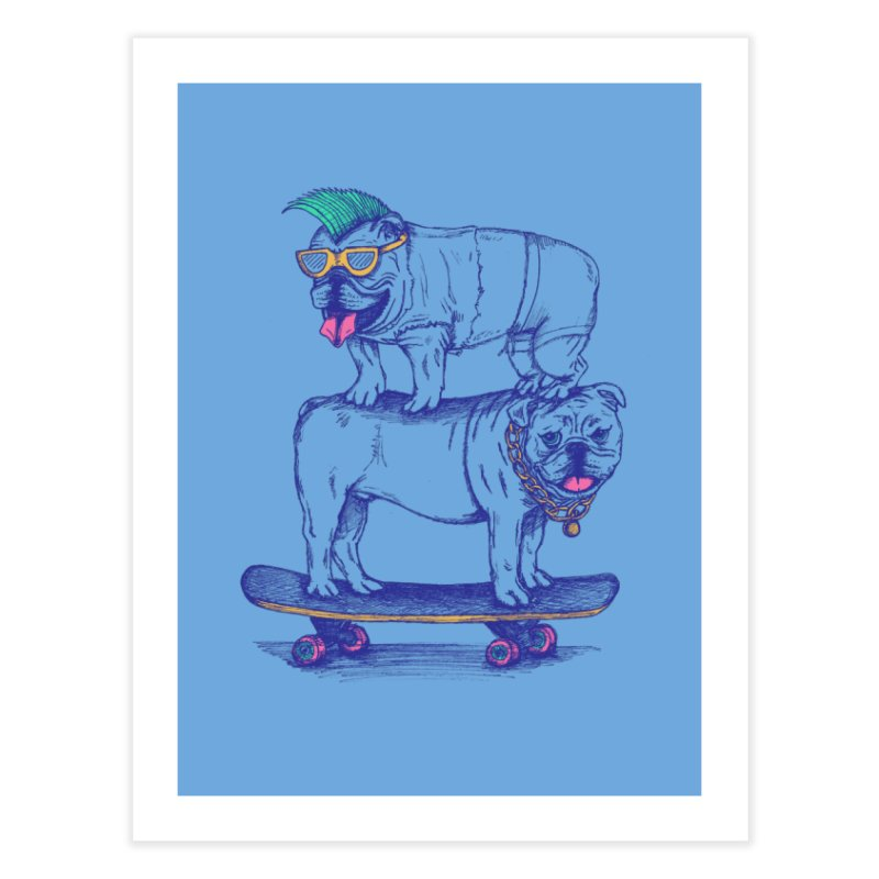 Double Dog Dare Home Fine Art Print by SteveOramA