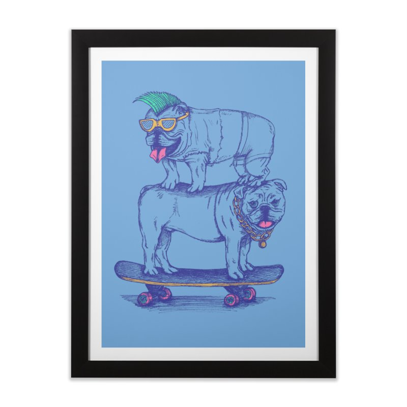 Double Dog Dare Home Framed Fine Art Print by SteveOramA