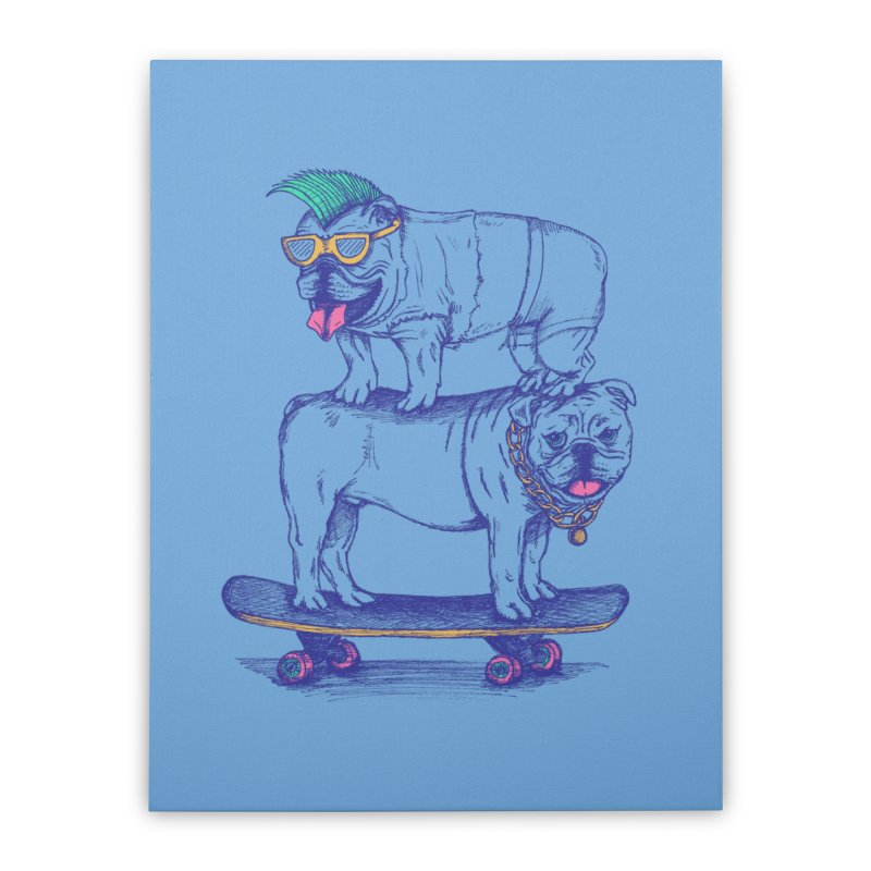Double Dog Dare Home Stretched Canvas by SteveOramA