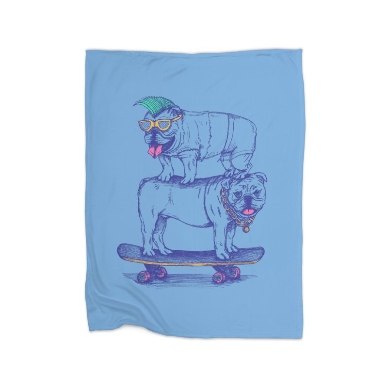 Double Dog Dare Home Fleece Blanket Blanket by SteveOramA