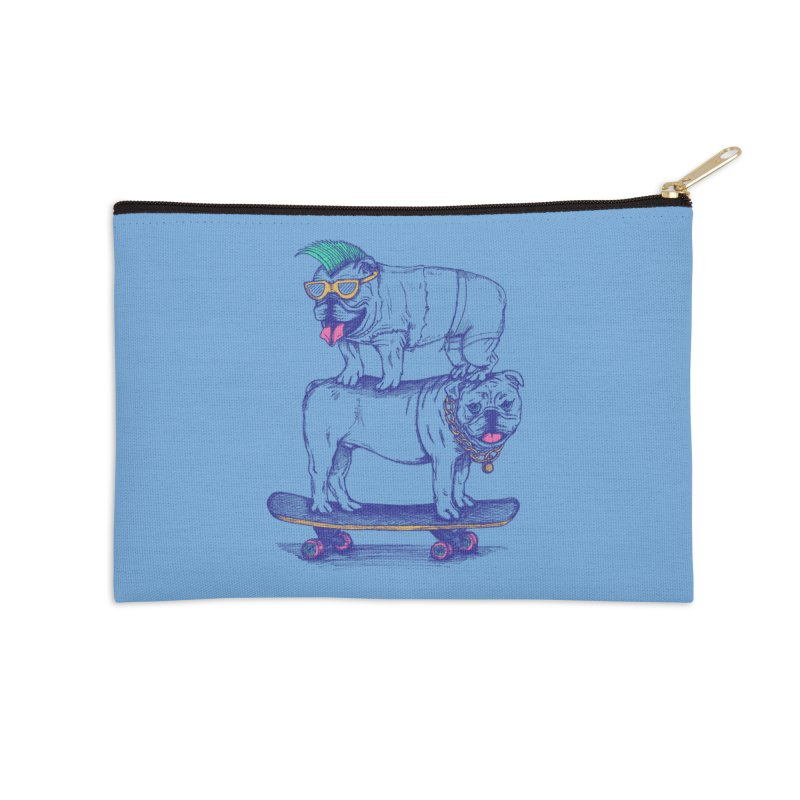 Double Dog Dare Accessories Zip Pouch by SteveOramA