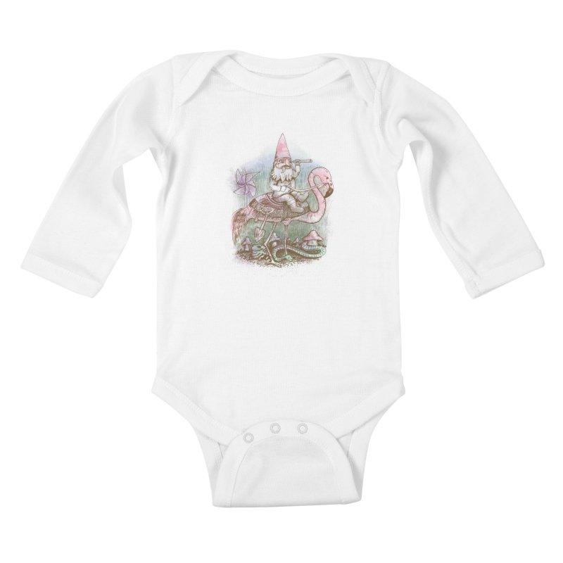 Journey Through the Garden Kids Baby Longsleeve Bodysuit by SteveOramA