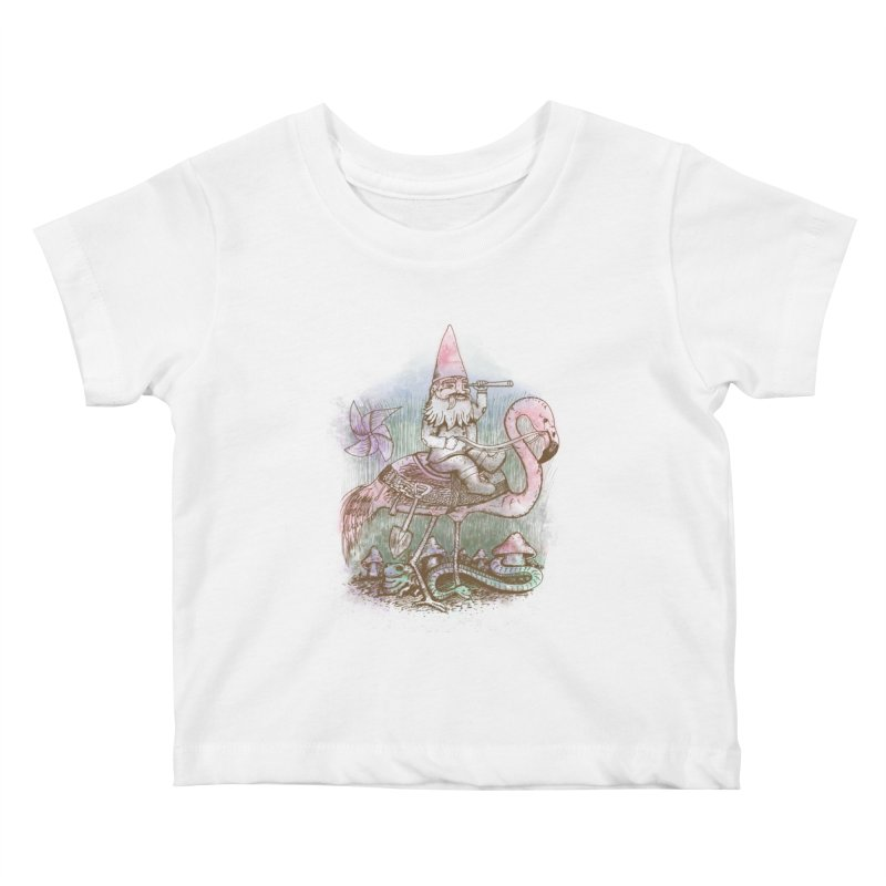 Journey Through the Garden Kids Baby T-Shirt by SteveOramA