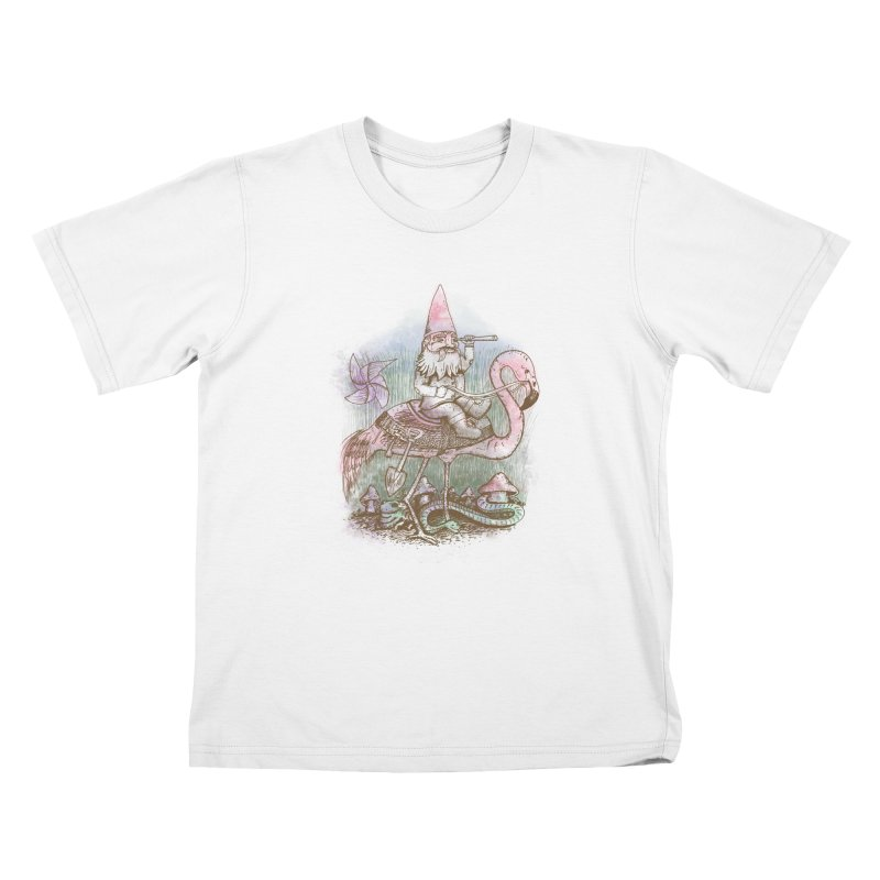 Journey Through the Garden Kids T-Shirt by SteveOramA