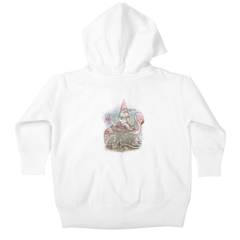 Journey Through the Garden Kids Baby Zip-Up Hoody by SteveOramA