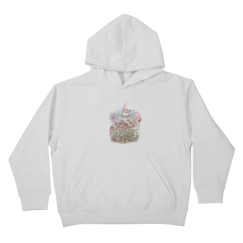 Journey Through the Garden Kids Pullover Hoody by SteveOramA