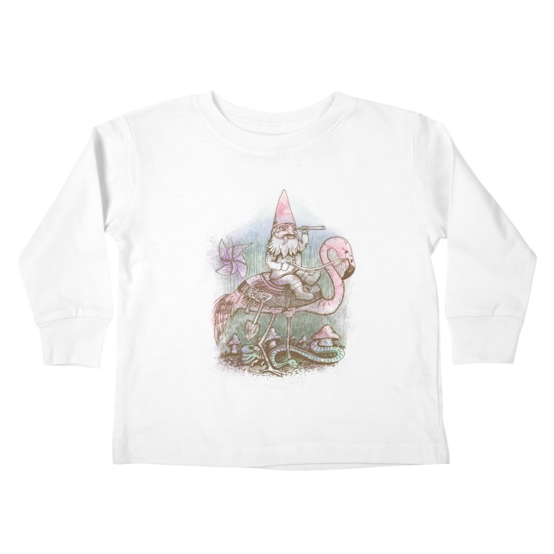 Journey Through the Garden Kids Toddler Longsleeve T-Shirt by SteveOramA