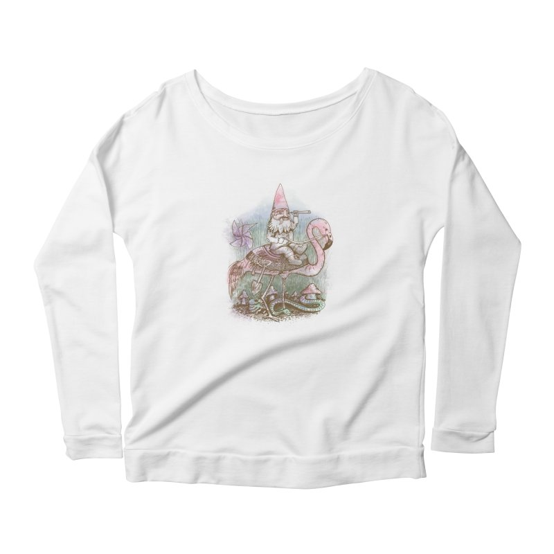 Journey Through the Garden Women's Scoop Neck Longsleeve T-Shirt by SteveOramA