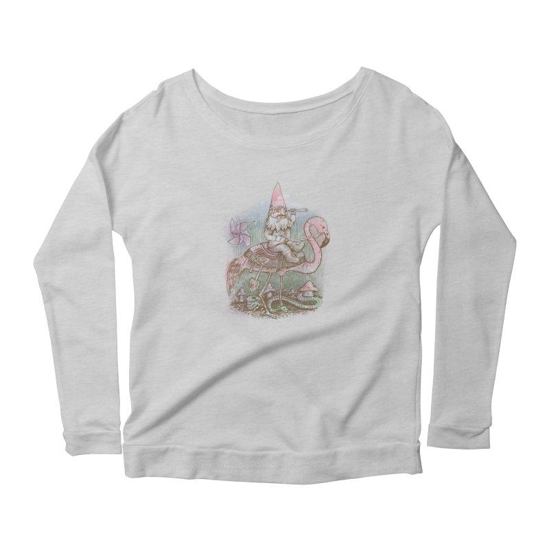 Journey Through the Garden Women's Scoop Neck Longsleeve T-Shirt by SteveOramA