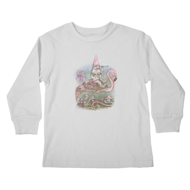 Journey Through the Garden Kids Longsleeve T-Shirt by SteveOramA