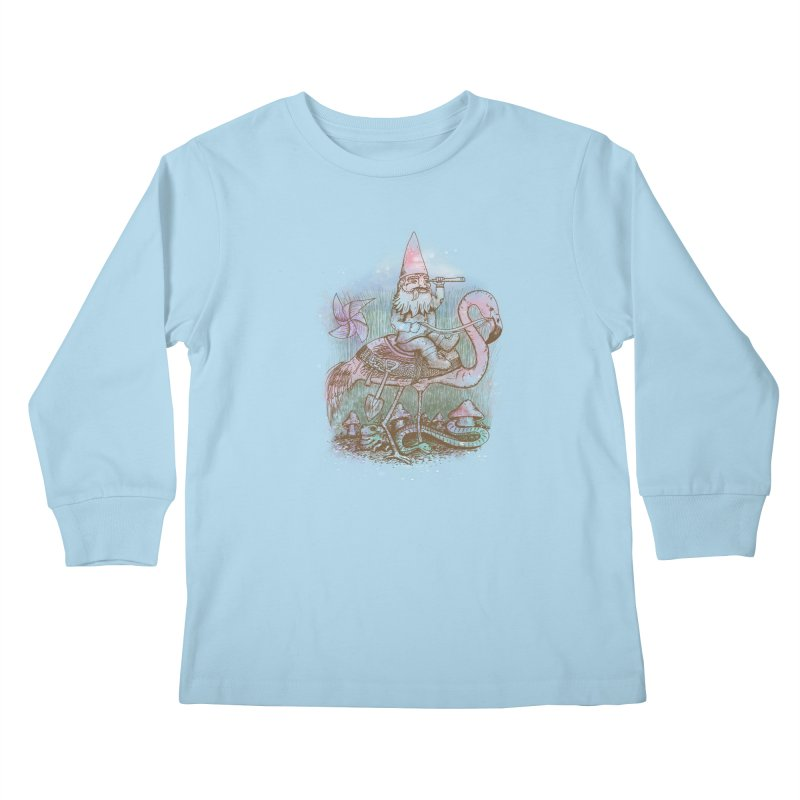 Journey Through the Garden Kids Longsleeve T-Shirt by SteveOramA