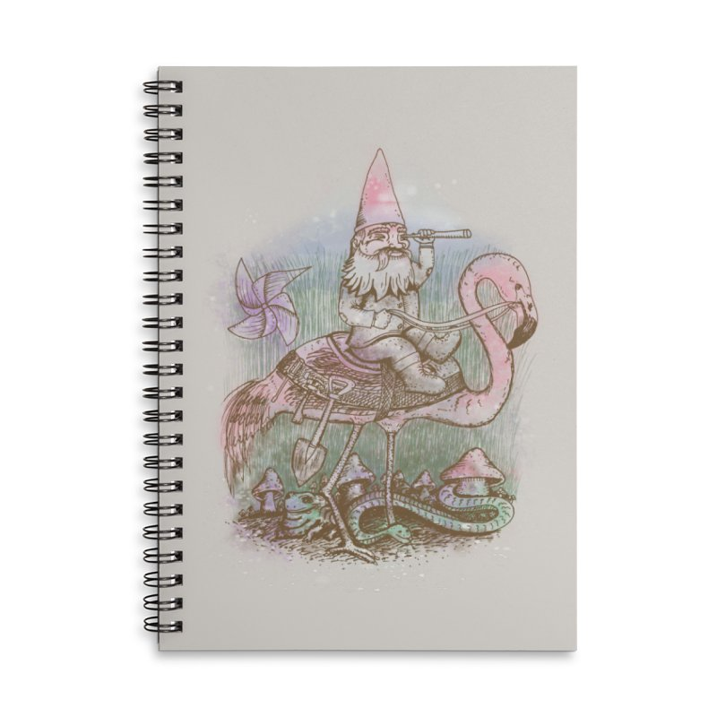 Journey Through the Garden Accessories Lined Spiral Notebook by SteveOramA