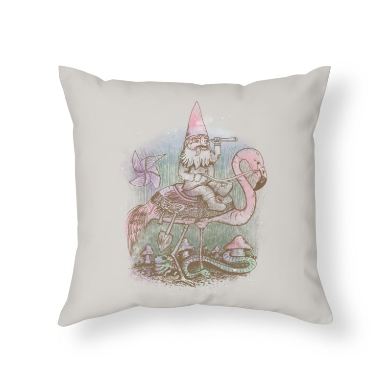 Journey Through the Garden Home Throw Pillow by SteveOramA