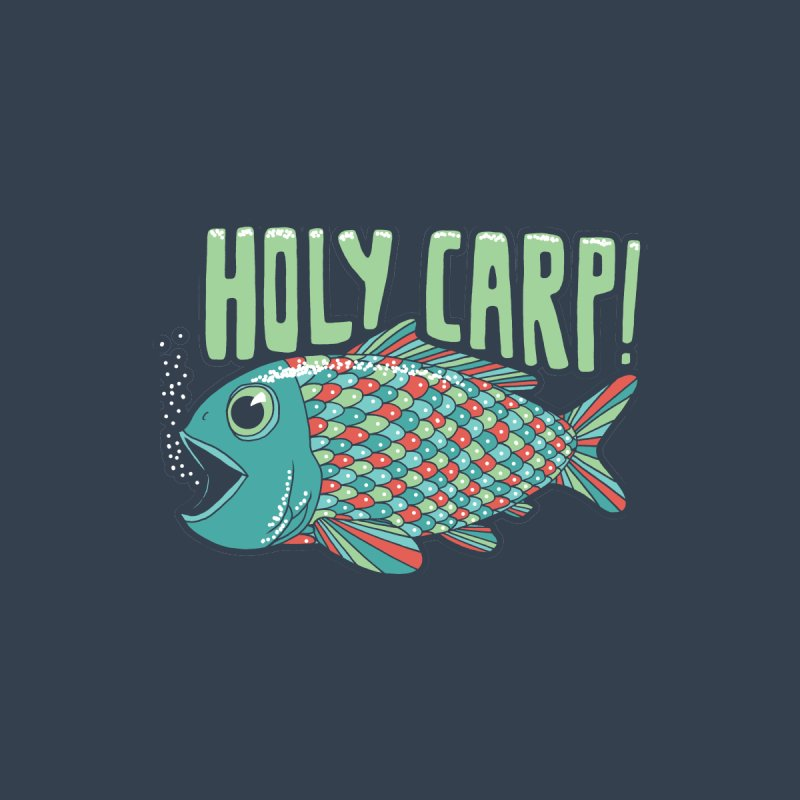 Holy Carp Accessories Zip Pouch by SteveOramA