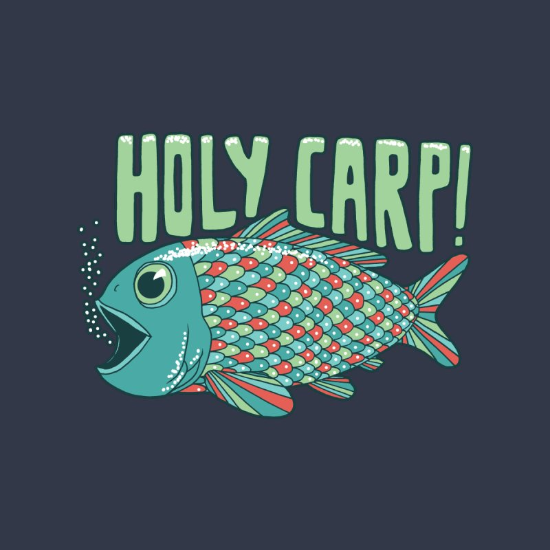 Holy Carp Women's V-Neck by SteveOramA