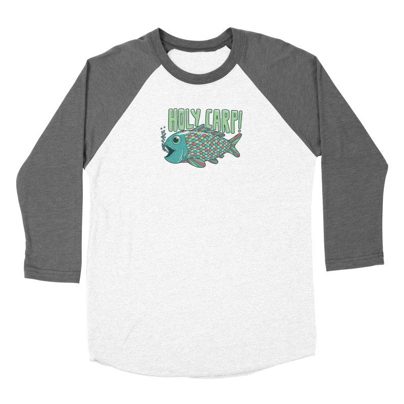 Holy Carp Women's Baseball Triblend Longsleeve T-Shirt by SteveOramA
