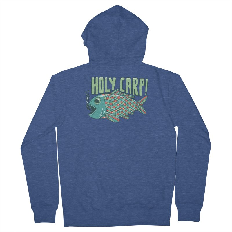 Holy Carp Women's Zip-Up Hoody by SteveOramA