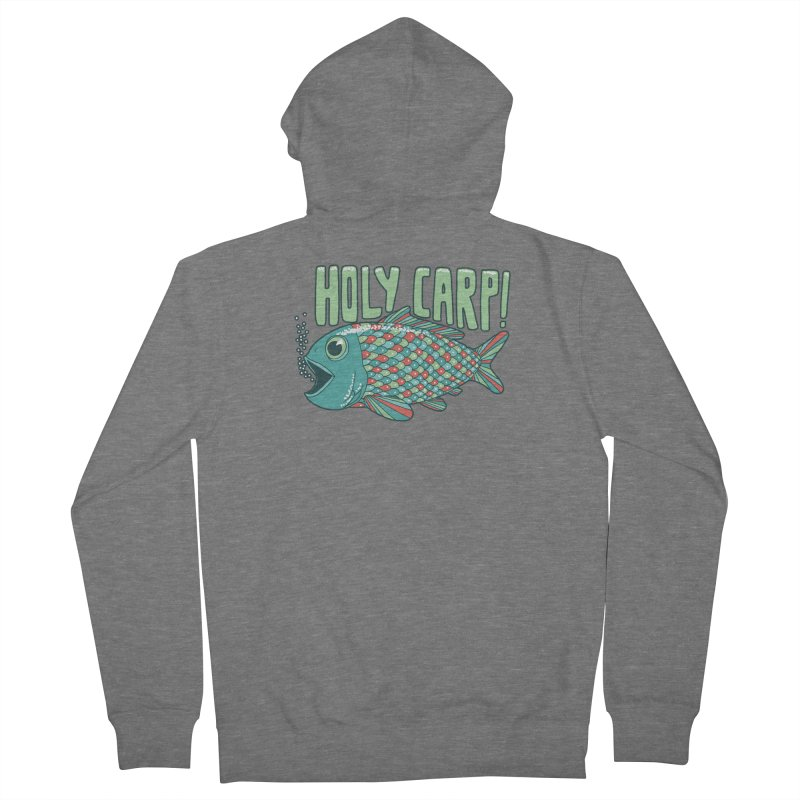 Holy Carp Women's French Terry Zip-Up Hoody by SteveOramA