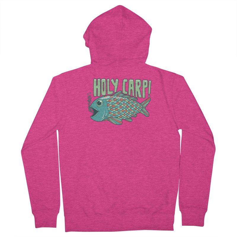 Holy Carp Women's Zip-Up Hoody by SteveOramA