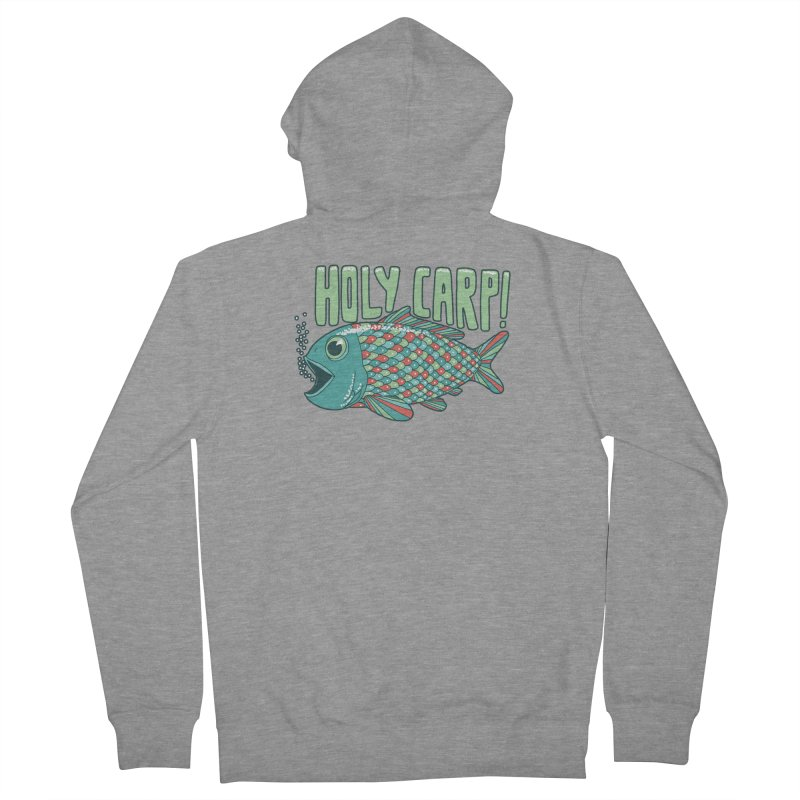 Holy Carp Men's French Terry Zip-Up Hoody by SteveOramA