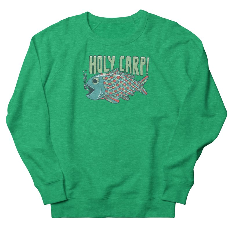 Holy Carp Men's French Terry Sweatshirt by SteveOramA