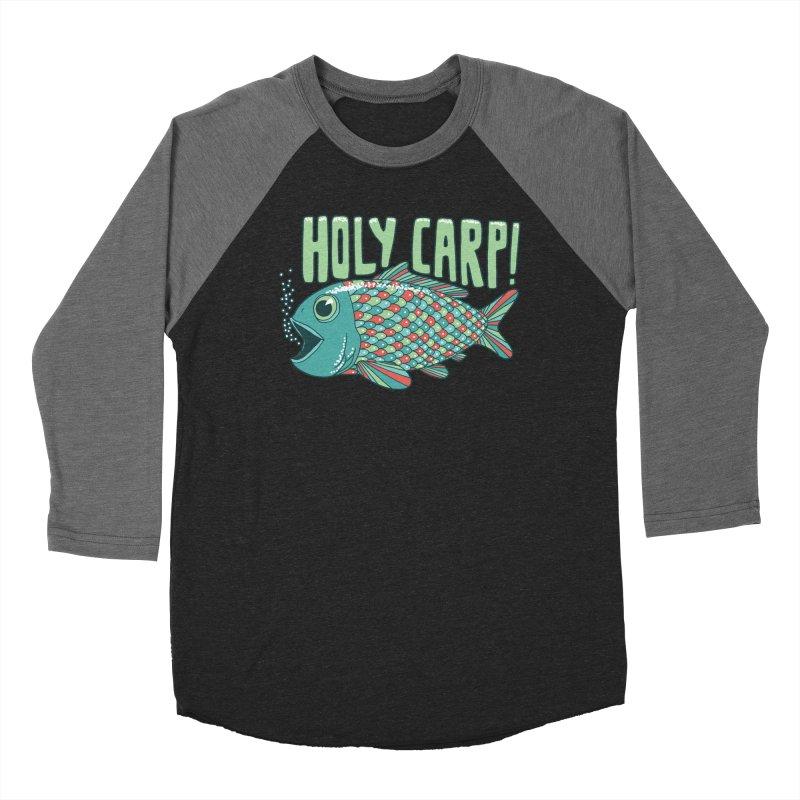 Holy Carp Women's Baseball Triblend T-Shirt by SteveOramA