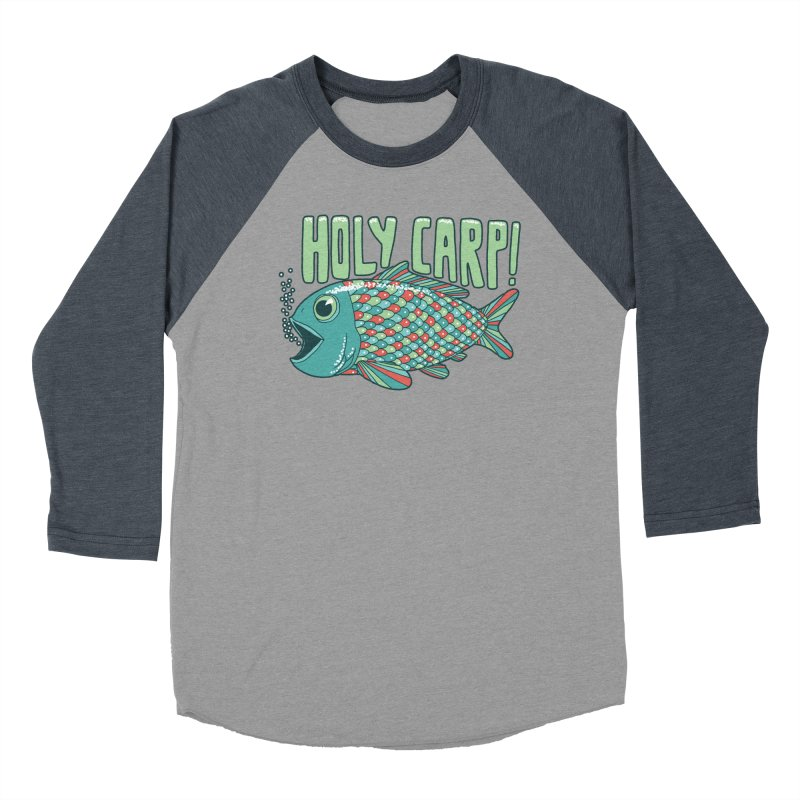 Holy Carp Women's Baseball Triblend T-Shirt by SteveOramA