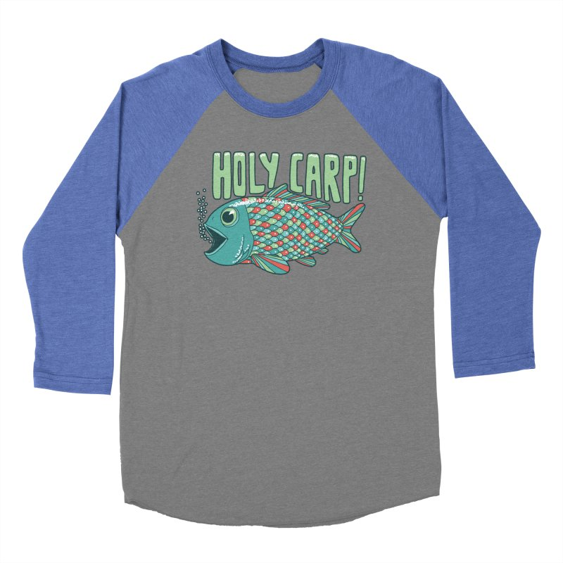 Holy Carp Men's Baseball Triblend Longsleeve T-Shirt by SteveOramA