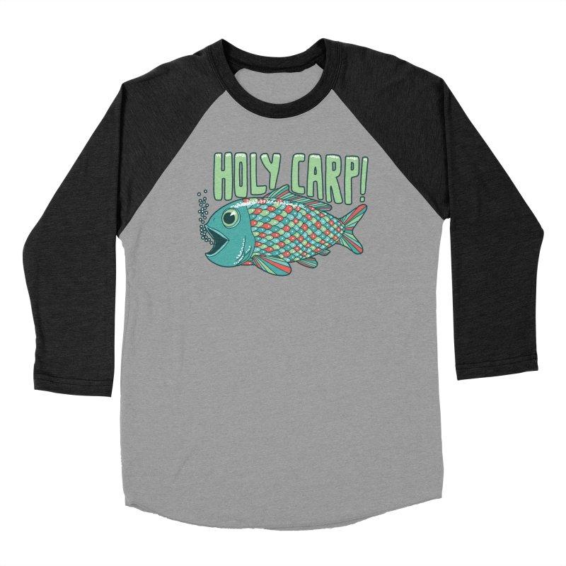 Holy Carp Men's Baseball Triblend T-Shirt by SteveOramA