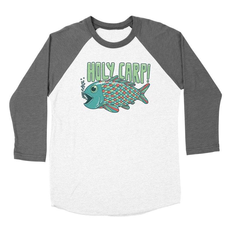 Holy Carp Men's Baseball Triblend Longsleeve T-Shirt by SteveOramA