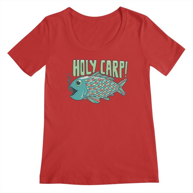 Holy Carp Women's Regular Scoop Neck by SteveOramA