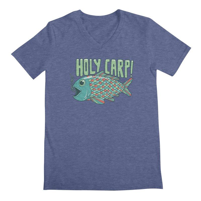 Holy Carp Men's V-Neck by SteveOramA