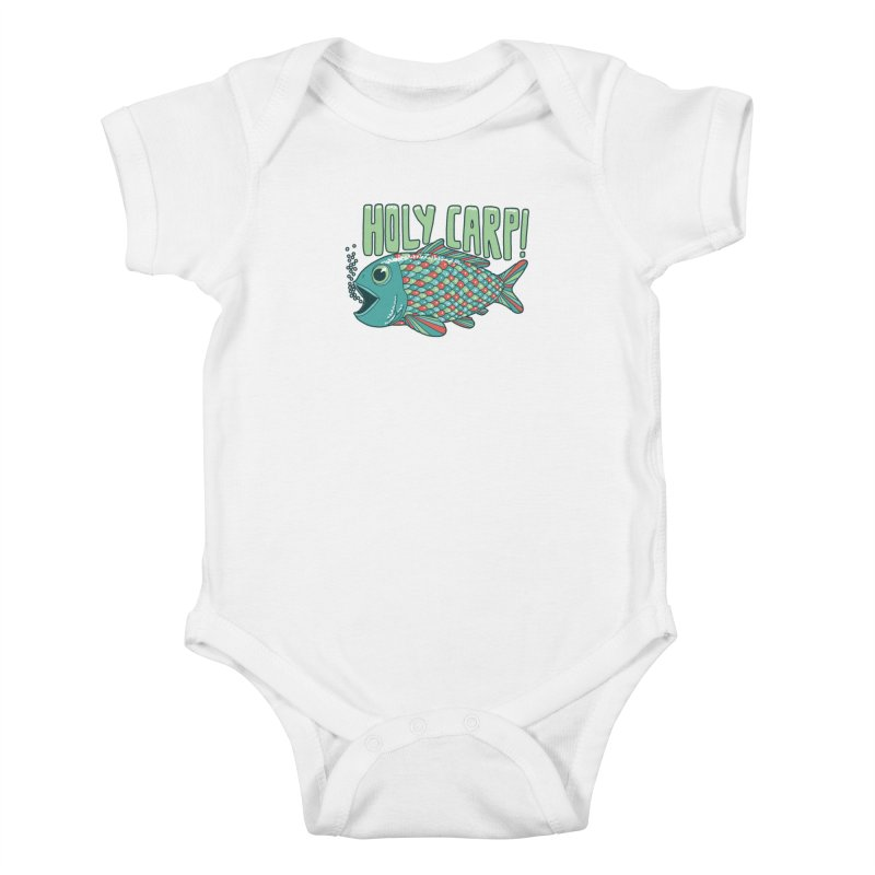 Holy Carp Kids Baby Bodysuit by SteveOramA