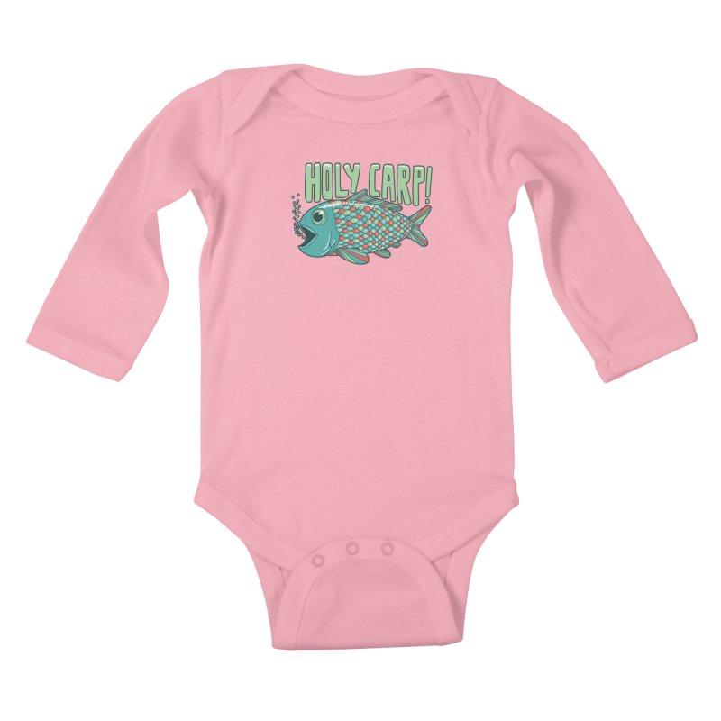 Holy Carp Kids Baby Longsleeve Bodysuit by SteveOramA