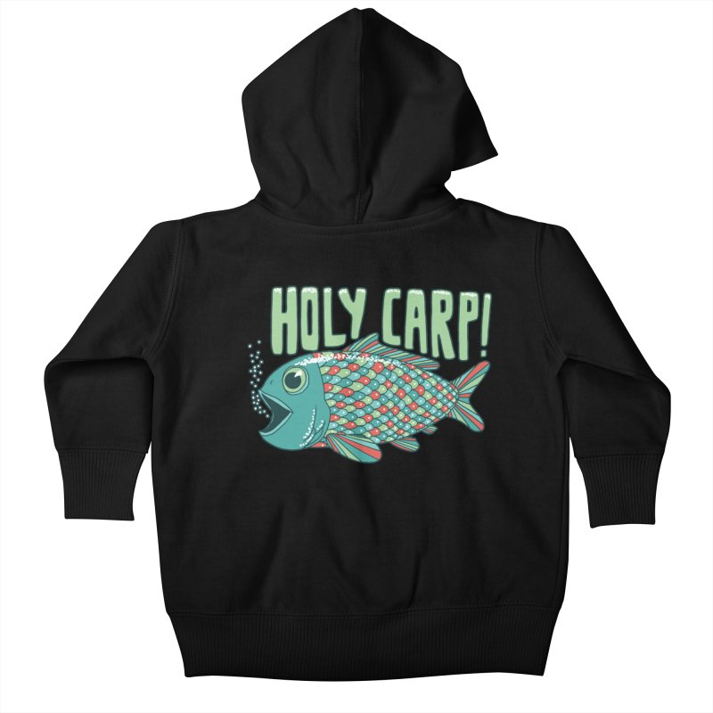 Holy Carp Kids Baby Zip-Up Hoody by SteveOramA