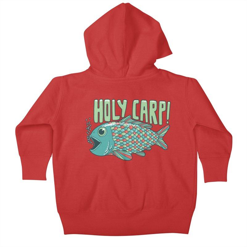 Holy Carp Kids Baby Zip-Up Hoody by SteveOramA