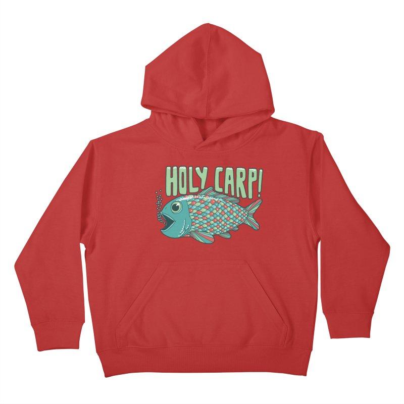 Holy Carp Kids Pullover Hoody by SteveOramA