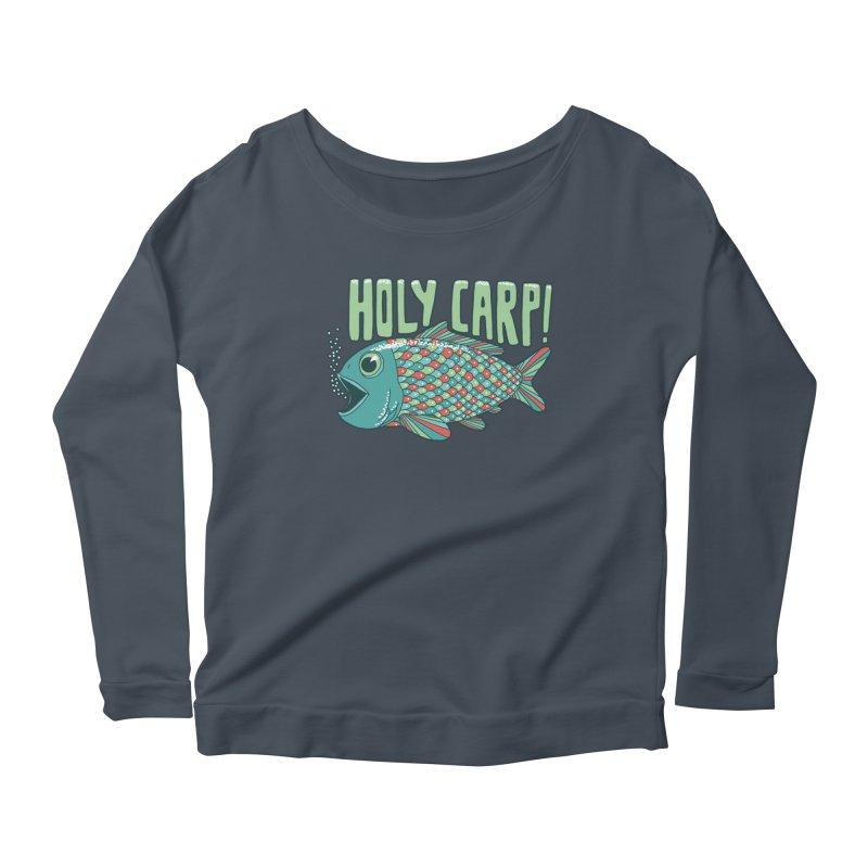 Holy Carp Women's Longsleeve Scoopneck  by SteveOramA
