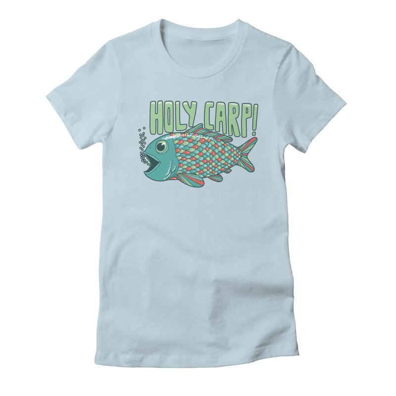 Holy Carp Women's Fitted T-Shirt by SteveOramA