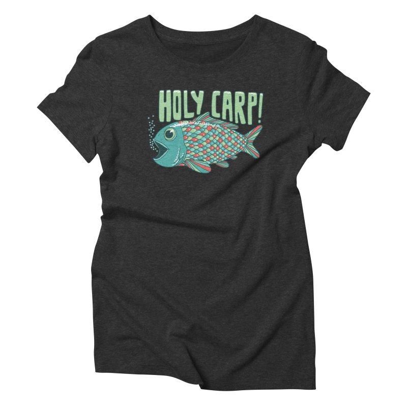 Holy Carp Women's Triblend T-shirt by SteveOramA
