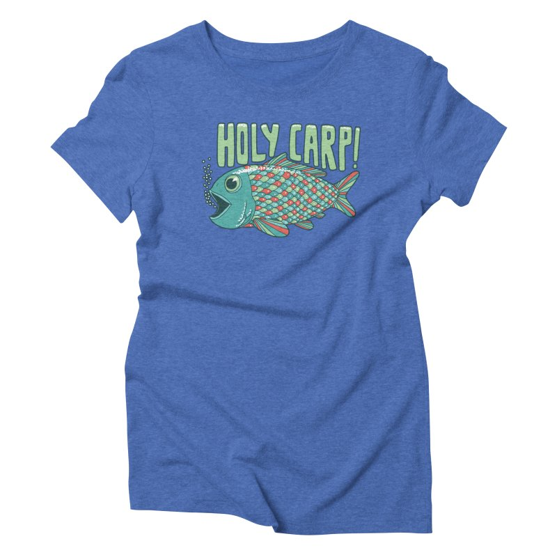 Holy Carp Women's Triblend T-Shirt by SteveOramA