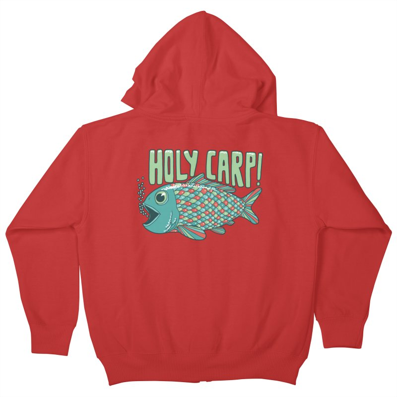 Holy Carp Kids Zip-Up Hoody by SteveOramA